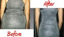 January before and after picture on get healthy_full